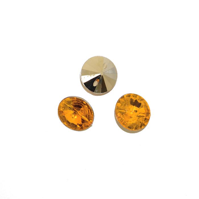 Gumb, kristal, 17643-43778, zlata