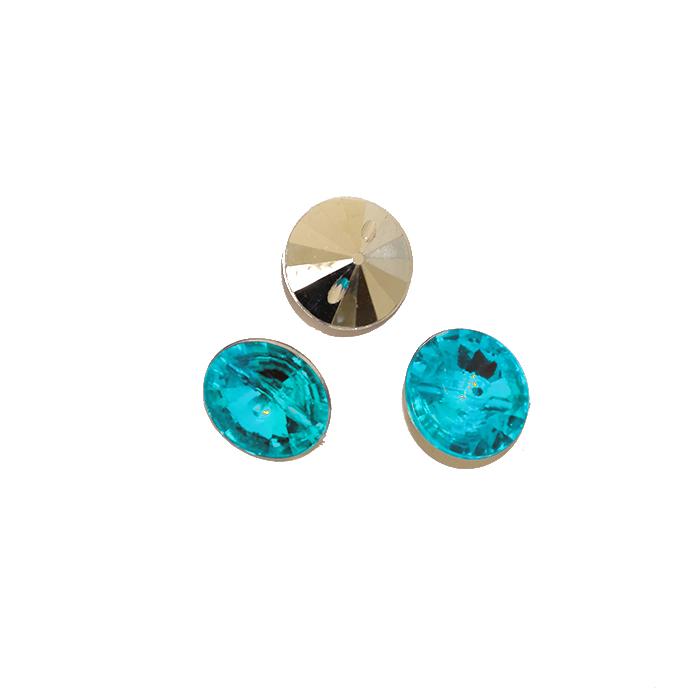 Gumb, kristal, 17643-43772, turkiz