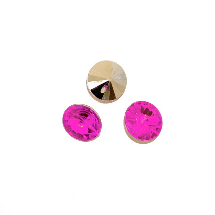 Gumb, kristal, 17643-43780, fuksija