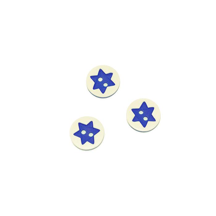 Gumb, 3D Zvezda, 17644-43255, modra