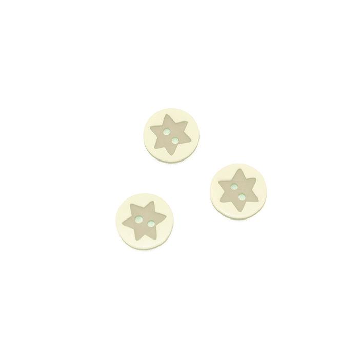 Gumb, 3D Zvezda, 17644-43261, bež