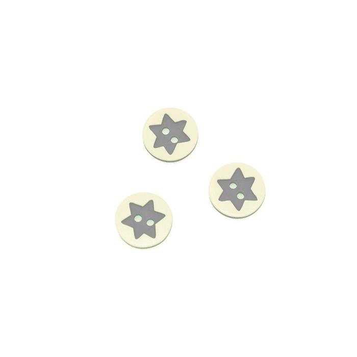 Gumb, 3D Zvezda, 17644-43262, siva