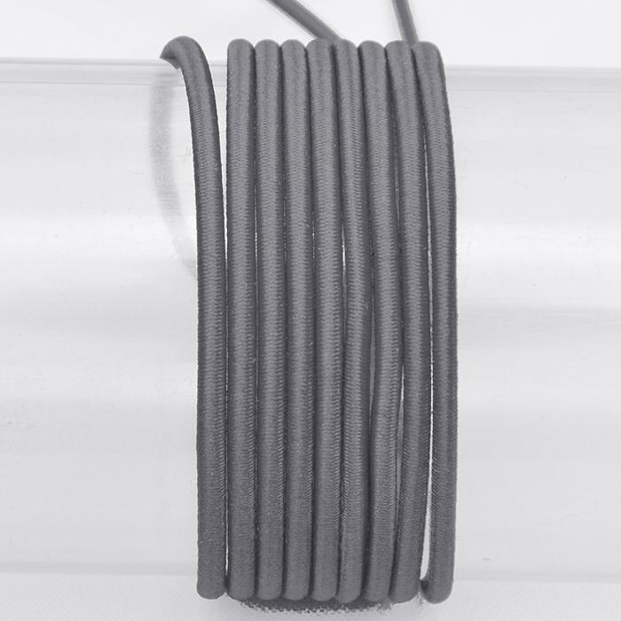 Elastika, okrogla 3mm, 16206-41621, siva