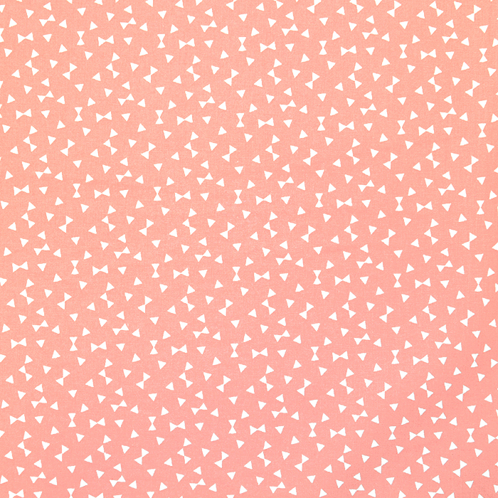 Bombaž, poplin, geometrijski, 17881-2, koral