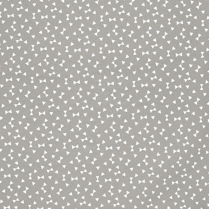 Bombaž, poplin, geometrijski, 17881-3, siva