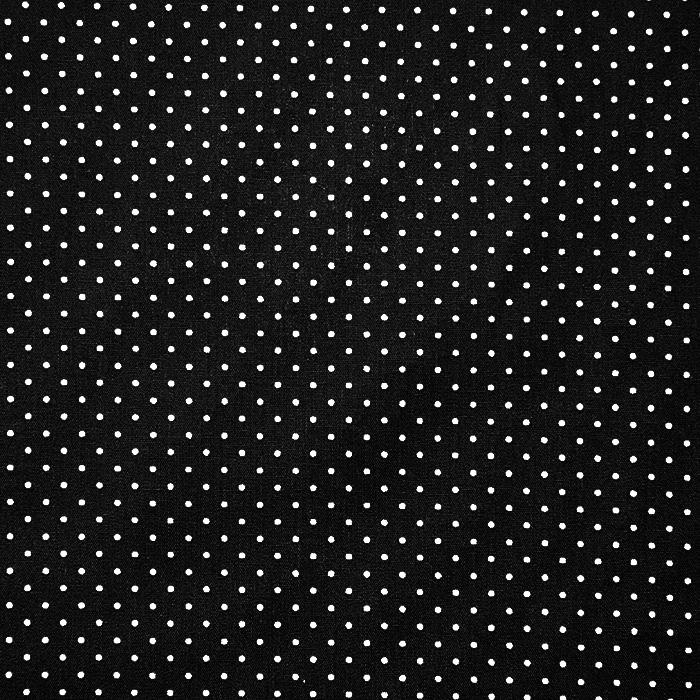 Bombaž, poplin, pikice, 17950-001, črna