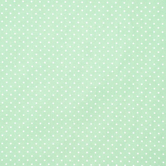 Bombaž, poplin, pikice, 17950-011, mint