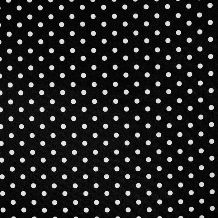 Bombaž, poplin, pike, 17952-001, črna