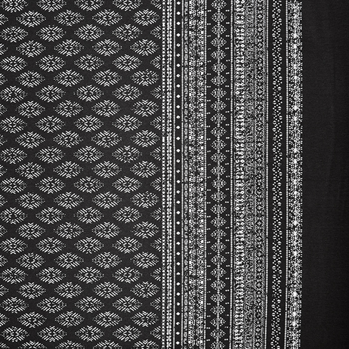 Jersey, viskoza, ornamentni, 18074-1, črna
