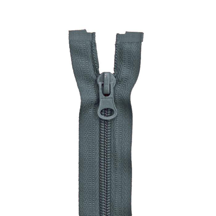 Zadrga, deljiva 60 cm, 6 mm, 2051-836, sivo zelena