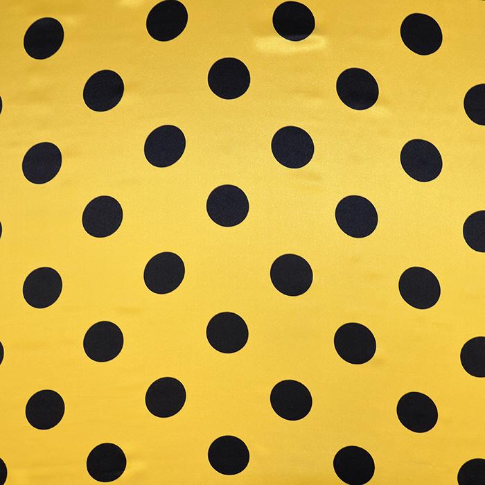 Svila, saten, pike, 18097-052A, rumena