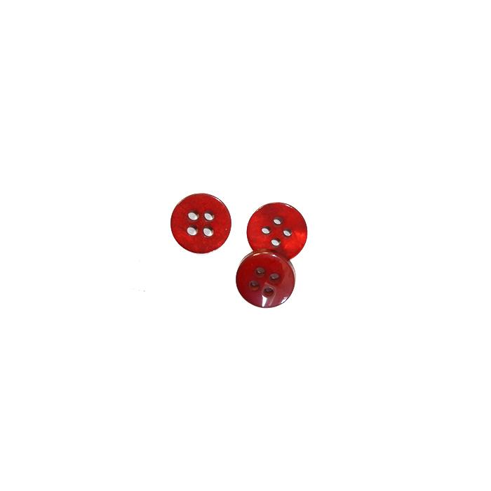 Gumb, srajčni, 2764-2, rdeča