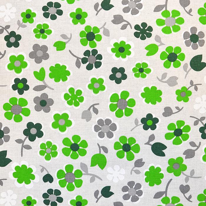 Deko, tisak, impregniran, cvjetni, 18277-6026, zelena
