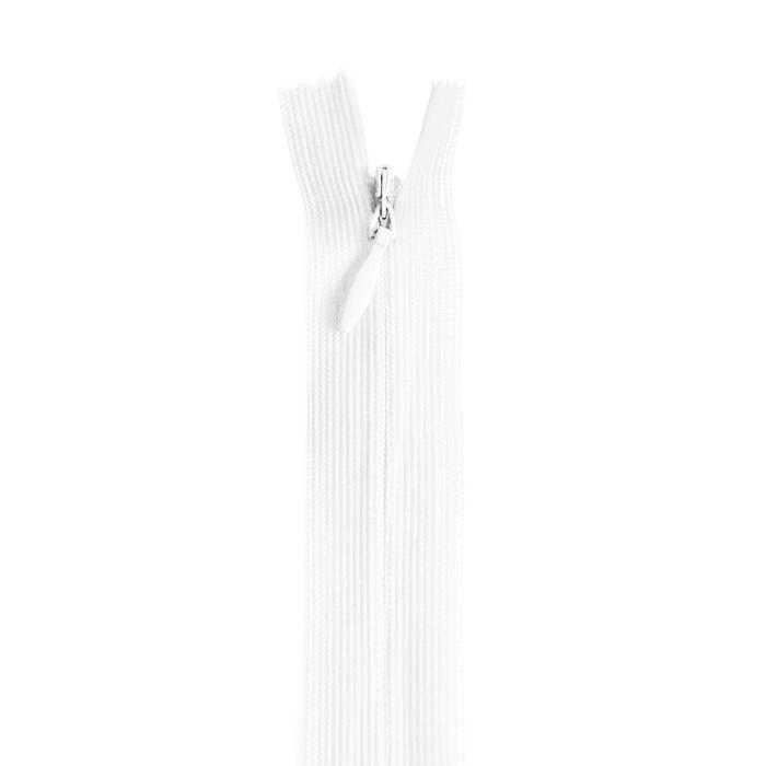 Zadrga, skrita 22 cm, 18297-501, bela