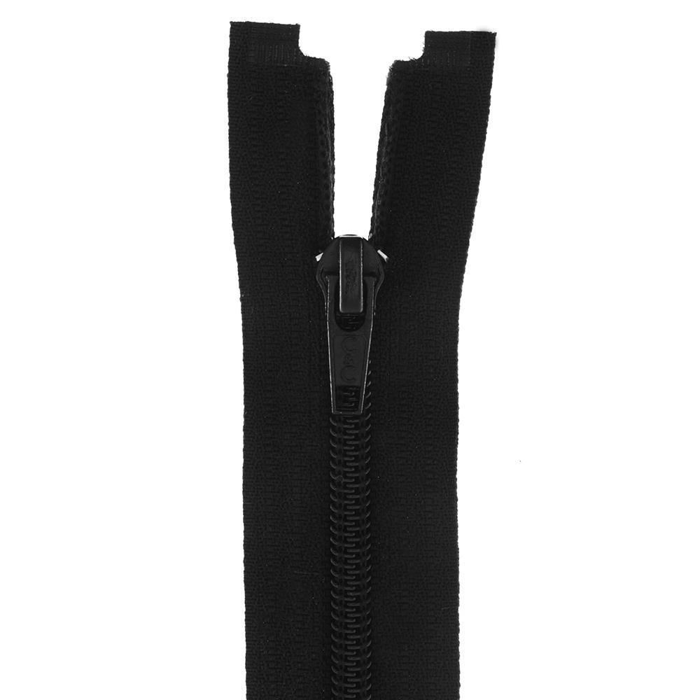 Zatvarač, djeljiv 80 cm, 06 mm, 18300-732, crna