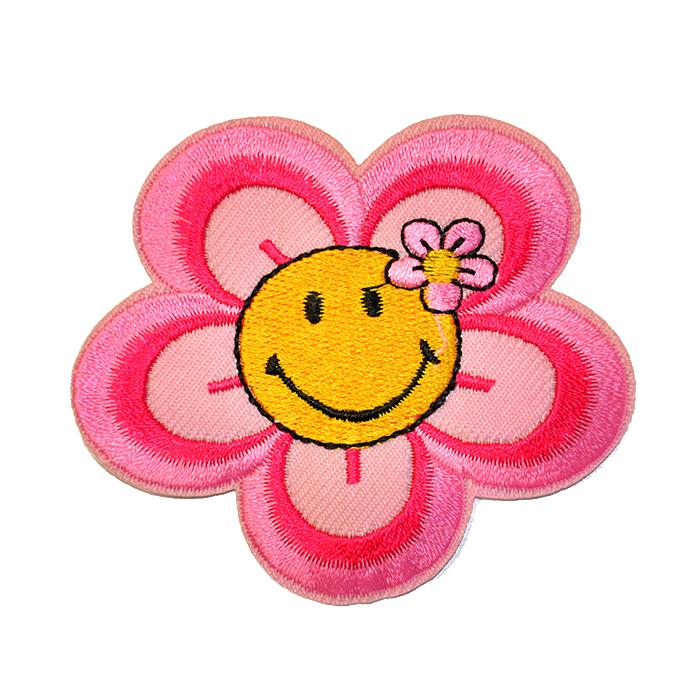 Prišivak, cvjetni, 18346-006, ružičasta