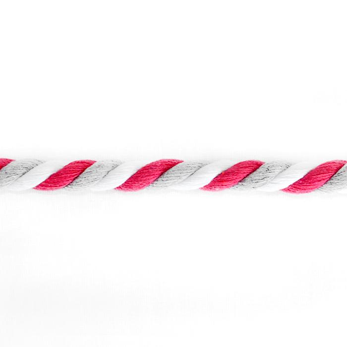 Vrvica, večbarvna, 10mm, 18391-43862, belo roza