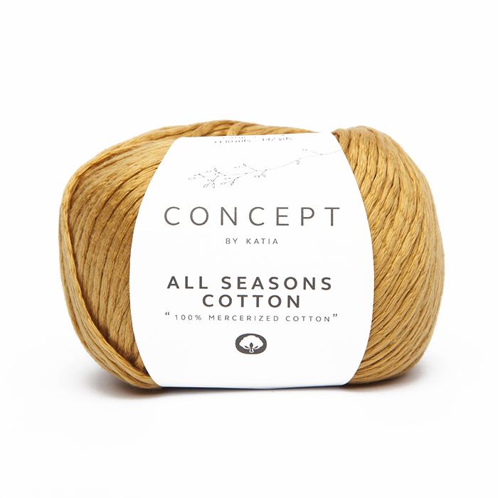 Garn, All Seasons Cotton, 18397-15, ocker