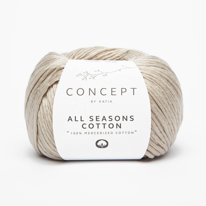 Garn, All Seasons Cotton, 18397-17, beige