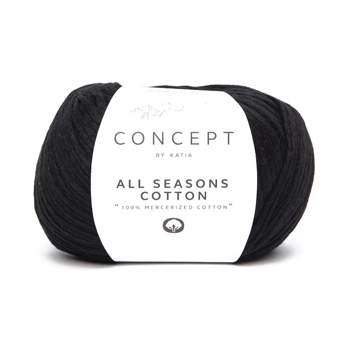 Garn, All Seasons Cotton, 18397-2, schwarz