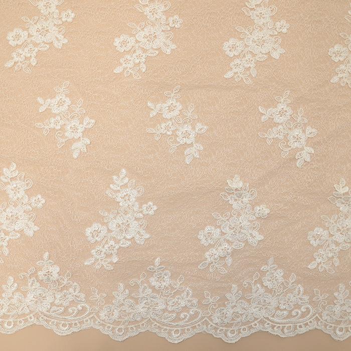 Čipka, cvetlični, 18460, smetana