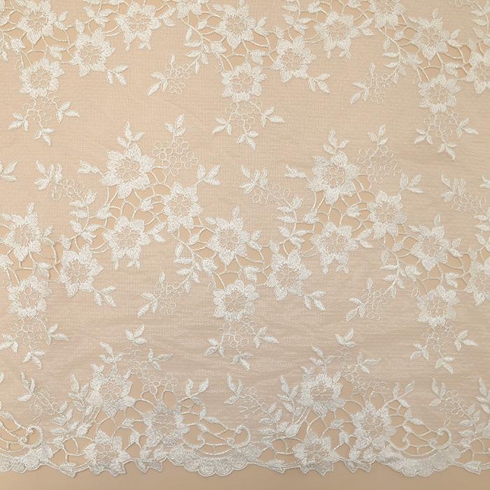 Čipka, cvjetni, 18470-1, krem