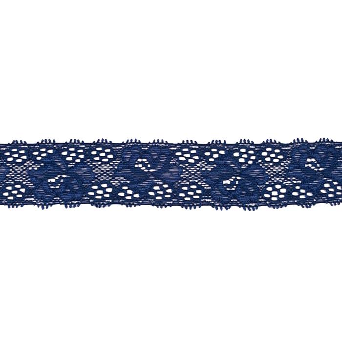 Čipka, elastična, 35mm, 18534-43949, modra
