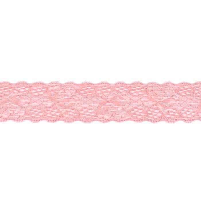 Čipka, elastična, 35mm, 18534-43951, roza