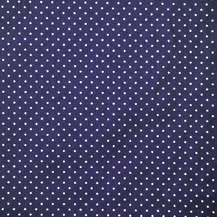 Bombaž, poplin, pikice, 17950-003, modra
