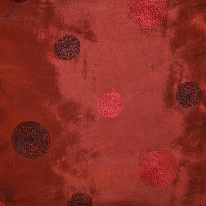 Taft, vezen, krogi, 18678-10, rdeče oranžna