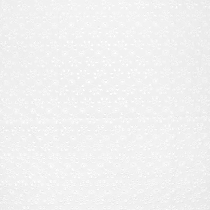 Bombaž, rišelje, cvetlični, 18780, bela
