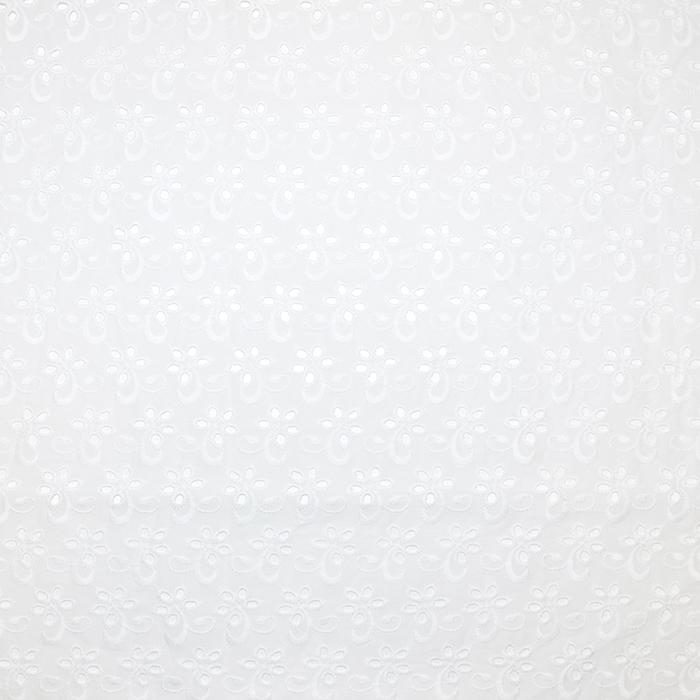 Bombaž, rišelje, cvetlični, 18781, bela