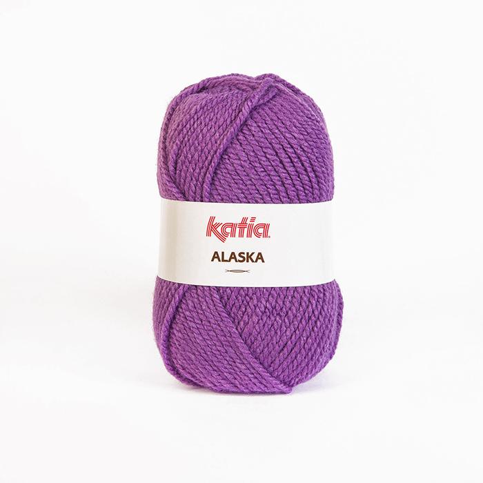 Garn, Alaska, 15451-21, violett