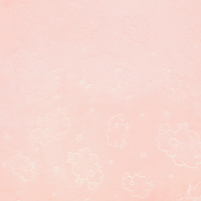 Velur coral, obostrani, životinjski, 18853-4, ružičasta