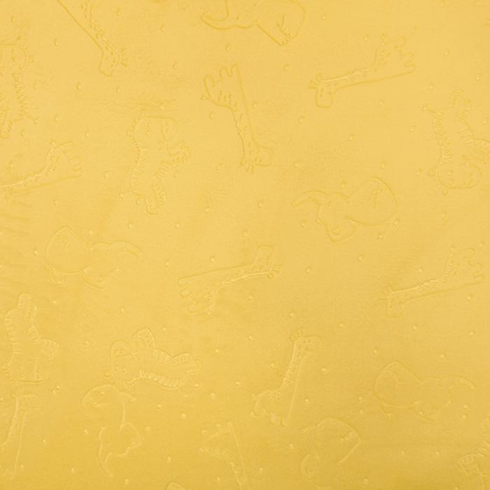 Velur coral, obojestranski, živalski, 18854-4, rumena