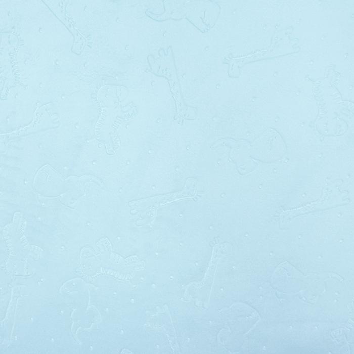 Velours, Coral, beidseitig, tierisch, 18854-5, blau