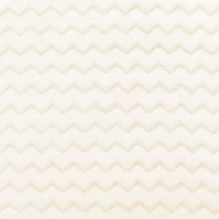 Velur coral, cik cak, 18858-5, smetana