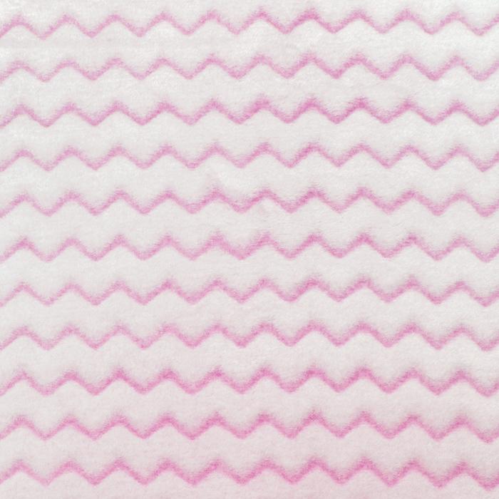 Velur coral, cik cak, 18858-7, roza