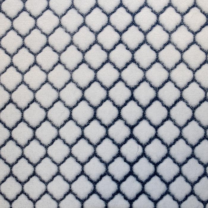 Velur coral, geometrijski, 18859-7, modra