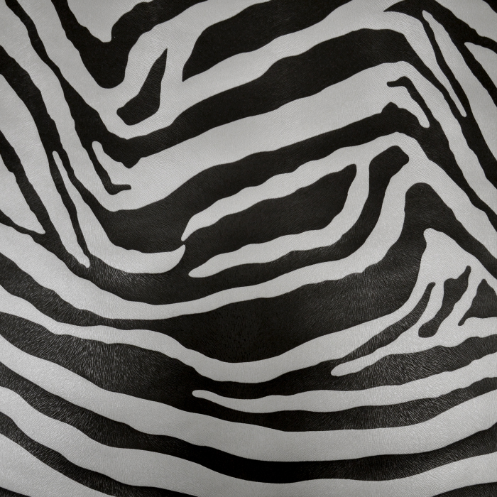 Umetno usnje, Zebra, 18866-099, črna-srebrna