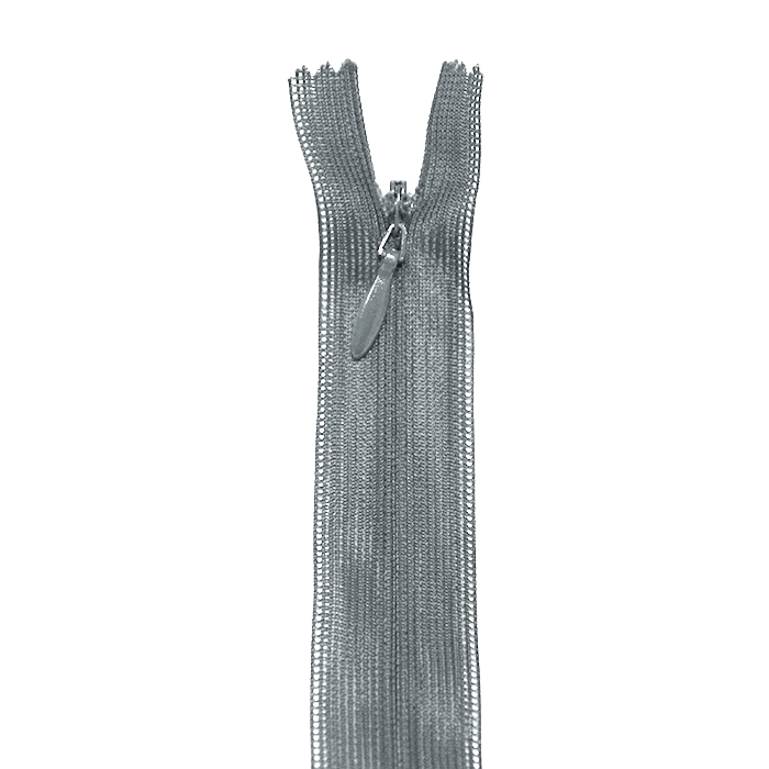 Zadrga, skrita, 60cm, 04 mm, 18298-720, siva