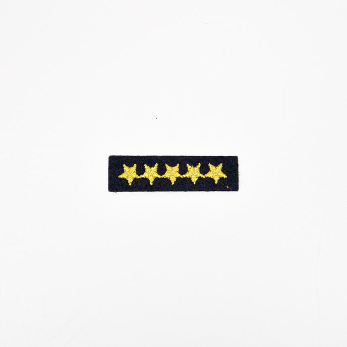 Našitek, zvezde, 18914, črno zlata