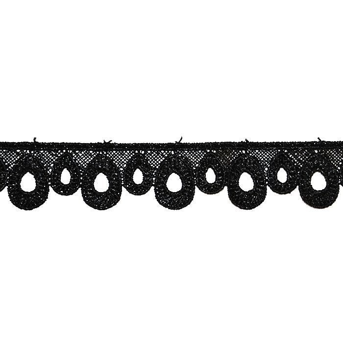 Čipka, 24mm, 18941-002, črna