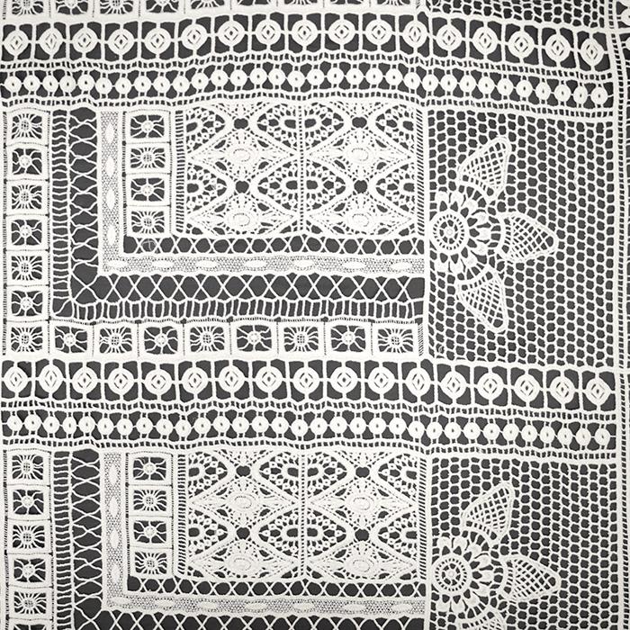 Čipka, geometrijski, 18947-72, smetana