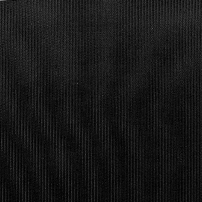 Žamet, bombaž, 18947-111, črna