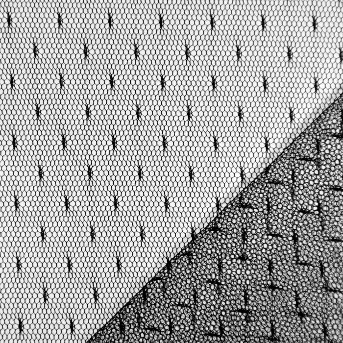 Mreža, prožna, pike, 19002-2, črna