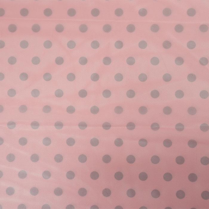 Mreža elastična, poliester, pike, 19003-8, roza