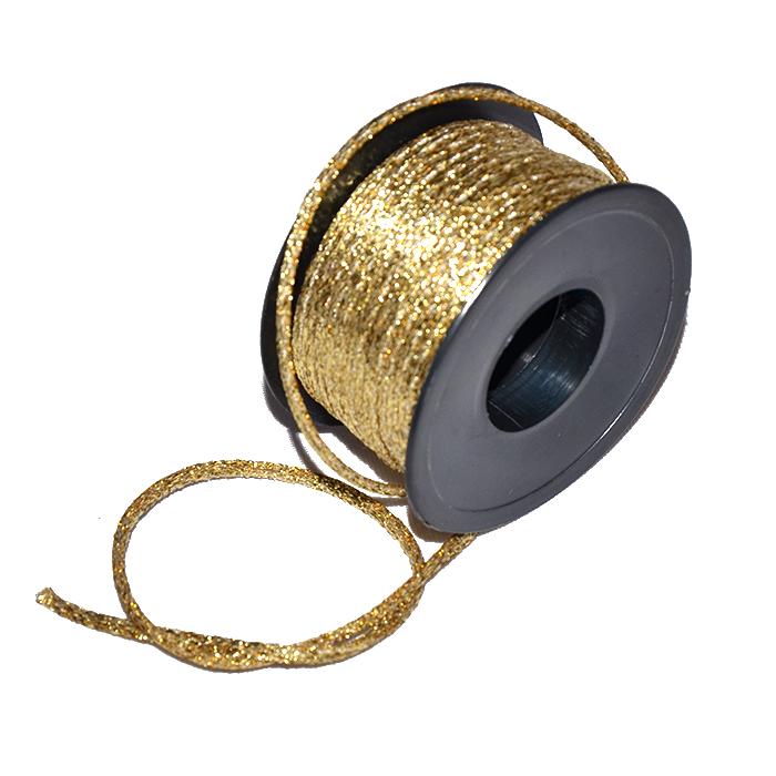 Vrvica, viskozna, 3mm, 19018-1, zlata