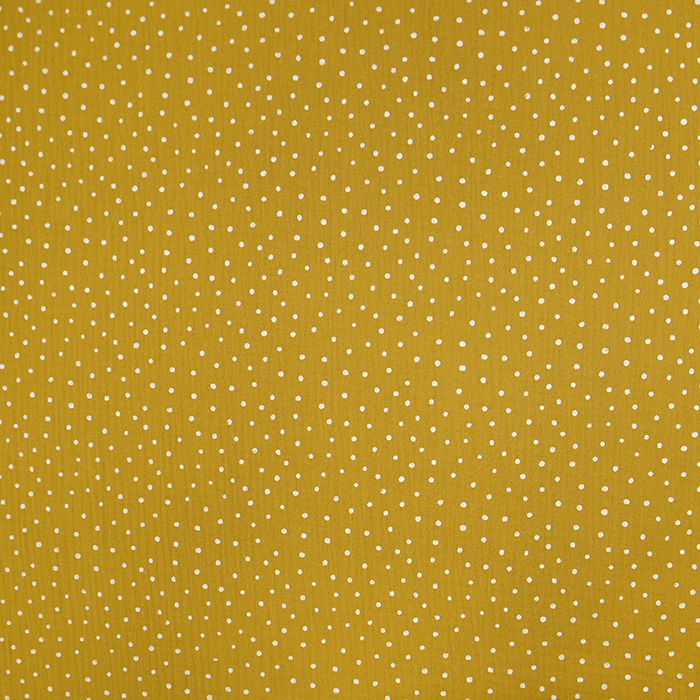 Tetra tkanina, dvojna, pikice, 19032-011, rumena
