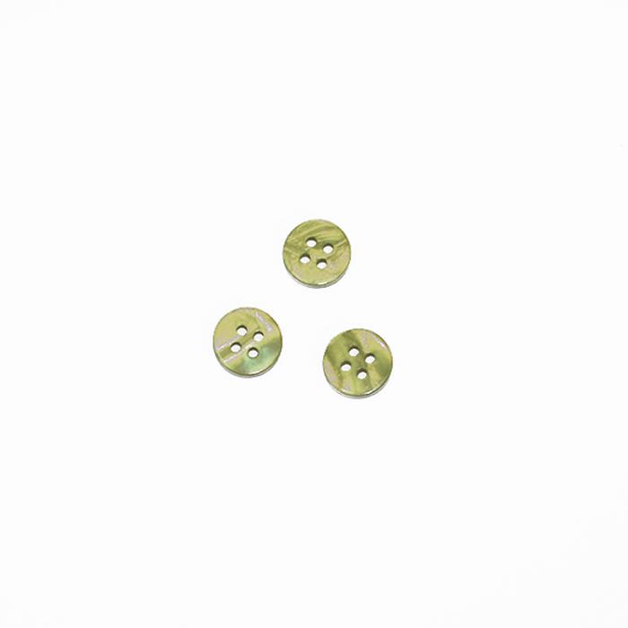 Gumb, srajčni, zelena, 10 mm, 2764-6